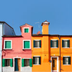 Island Burano, traditional colorful houses